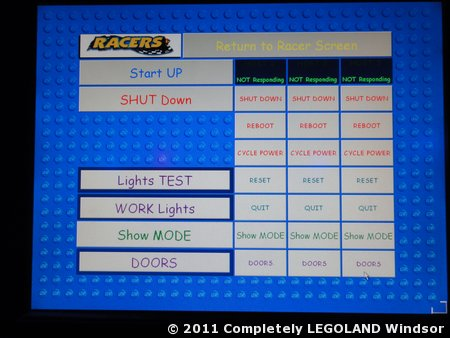 The overall ride control menu