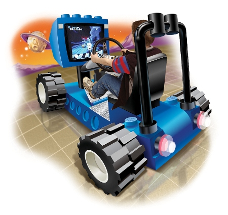 Concept artwork of a race pod from the original LEGO Racers