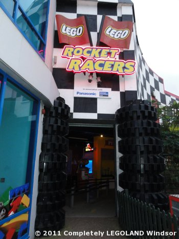 The entrance to Rocket Racers
